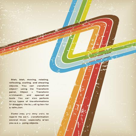 Retro grunge Zusammenfassung Hintergrund Vektor mit Linien Illustration