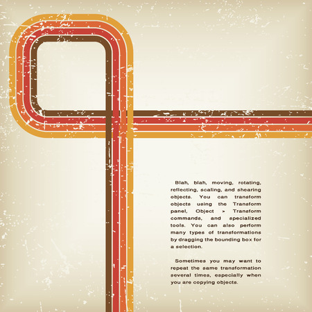retro abstract grunge vector background mit Linien