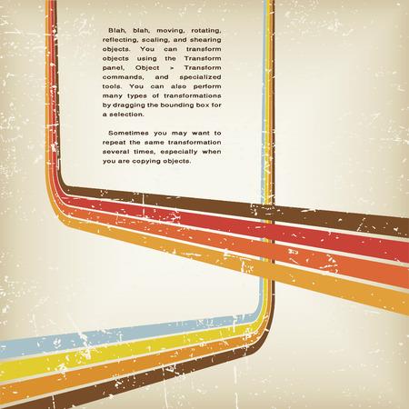 Retro Grunge-abstrakte Vektor-Hintergrund mit Linien Illustration