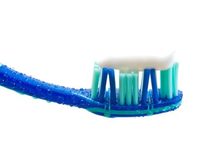 toothbrush isolated on white photo