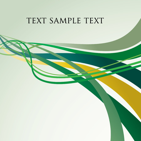 vector abstract backgrounds with dynamic green lines Vector