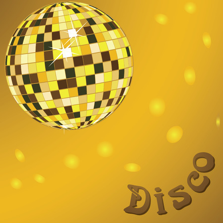 vector disco ball mirror abstract background card Illustration