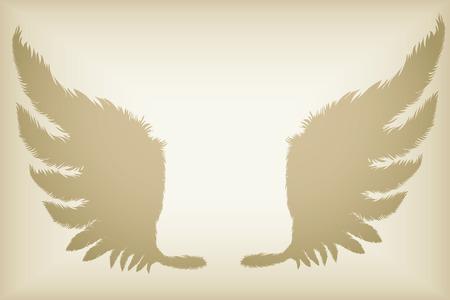 grunge wings: grunge ali di piuma silhouette vettoriali Vettoriali