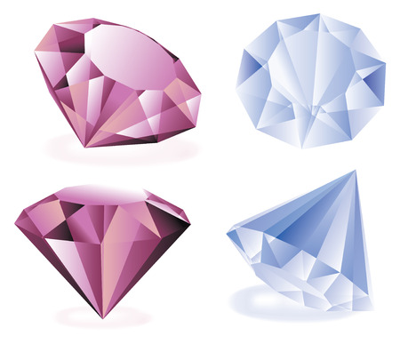 diamonds isolated vector set