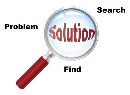 de vidrio lupa encontrar vector concepto de solución