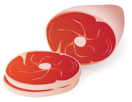 vlees: rauw vlees stuk vector illustration