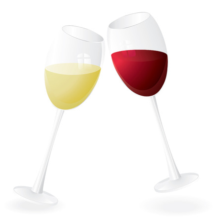 vine glass pair isolated on white vector