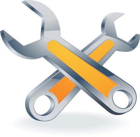 under construction wrenches icon vector Vector