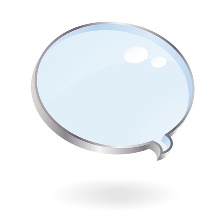 talking bubble magnifier like vector image