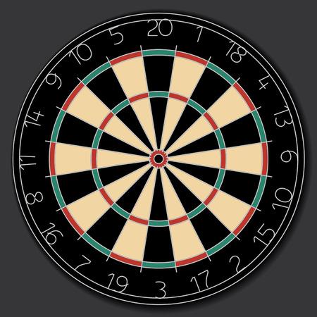 traditional round dartboard vector image Vector