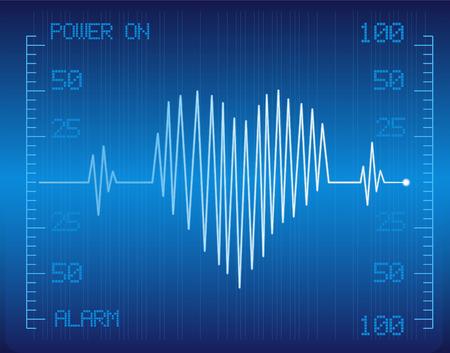 medizinischen Cardio-Monitor mit Herz Vektor-Bild