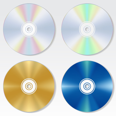 multy: multy color isolated cd disc set