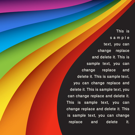 abstract background with rainbow color lines