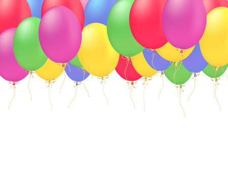 celebration decoration card with color balloons vector Vector