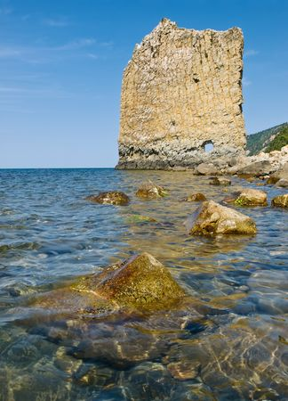 summer landscape with seacost, rocks and blue sky Stock Photo - 6578970