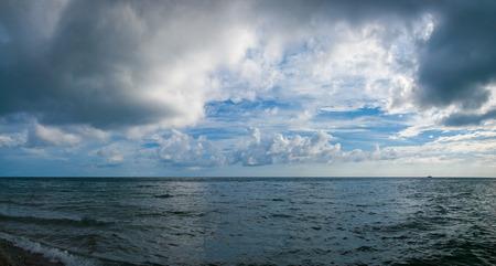 dramatic sky over sea panoramic landscape