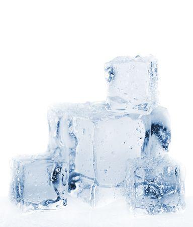 melting ice cubes over white toned blue closeup shallow dof Stock Photo - 8258168