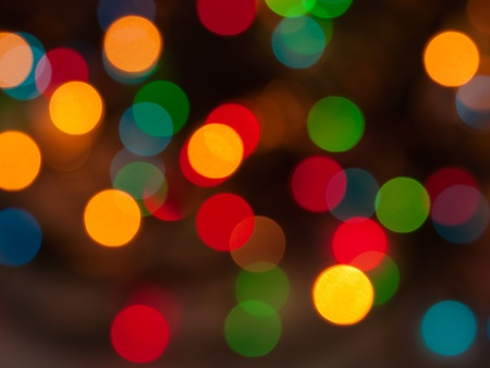 blurred bokeh christmas lights abstract background photo