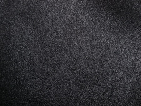 textured backgrounds: natural black leather abstract background Stock Photo