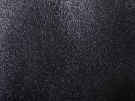black leather texture: natural black leather abstract background detailed Stock Photo