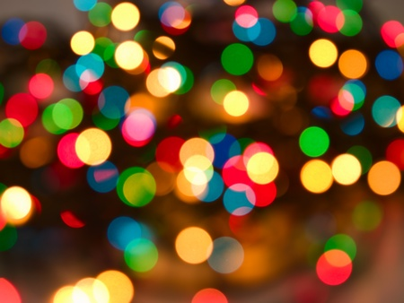 colorful blurred lights natural bokeh abstract background Stock Photo
