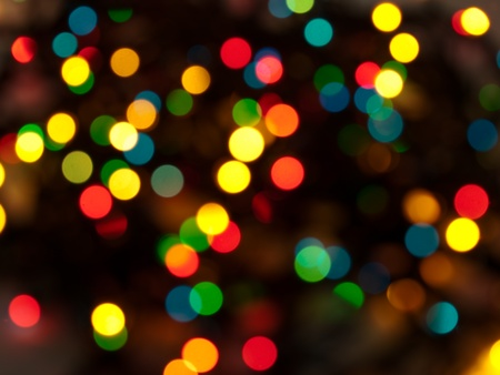 blurred lights natural bokeh abstract background Stock Photo - 8389307
