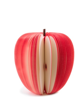 paper stick notes apple isolated over white