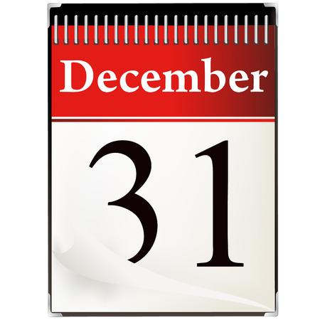 december kalender: Foto van kalender december 31 papier