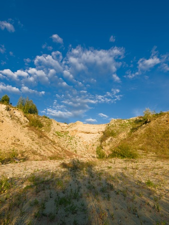 rocky landscape with blue sky and clouds Stock Photo - 12372737