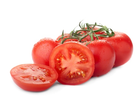 tomatoes brunch with ripples isolated over white Stock Photo - 12372722