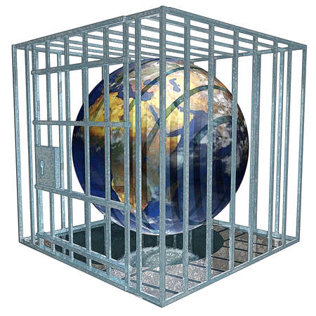 Earth in Jail Stock Photo - 234290