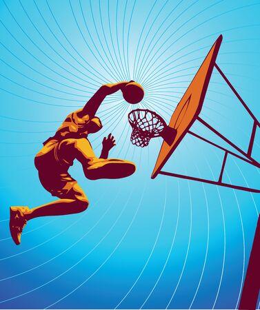 Basketballspieler, Teil meines Vektors sports Reihe.