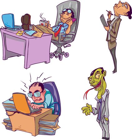 6 business and corporate characters, depicting a variety of personalities from Business World. This is part 7, of my on-going Character Design Collection. photo