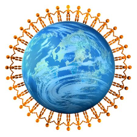 3D rendering of global friendship