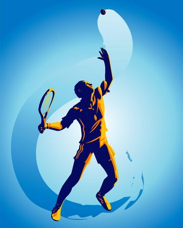 Tennis action photo