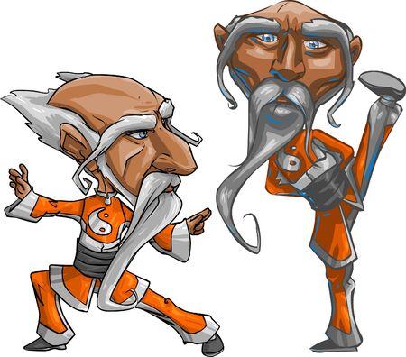 hombre caricatura: Vector Cartoon, aislado en fondo blanco m�s f�cil para la edici�n de