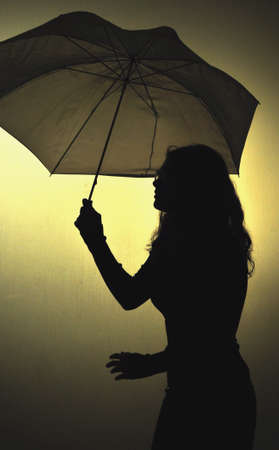 discontinued: Girl with umbrella