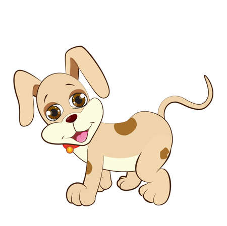 A lovely cartoon puppy
