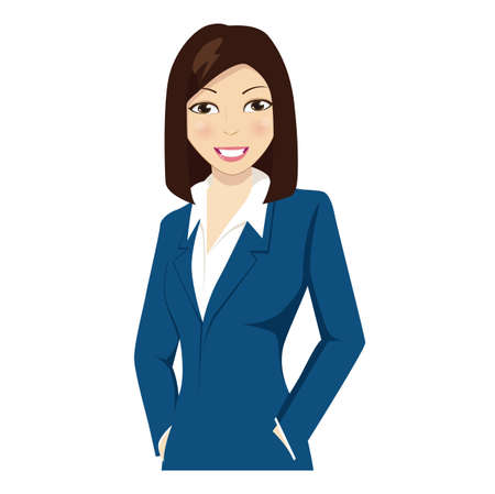Young female professional workers Illustration