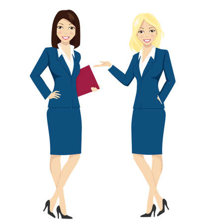 Two business women working professionals