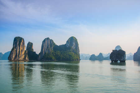 long bay: Asia, country of Vietnam. Mountains.Ha long Bay.