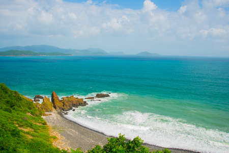 Beautiful sea and mountain views photo