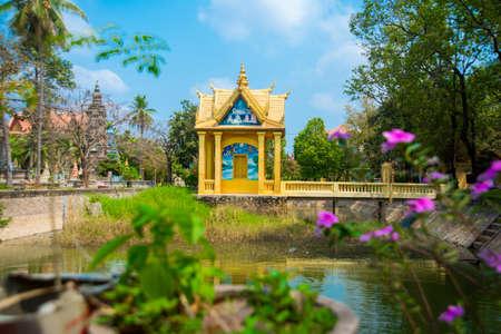 reap: Cambodia, Siem reap. Beautiful Buddhist temple.