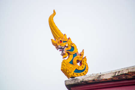buddhist temple: Scary mythological creature at a Buddhist temple