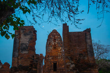 remnants: Old ruined temples, rocks and remnants of structures from Stock Photo