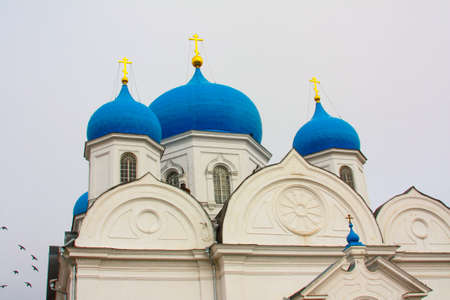 An old religious building in white city Bogolyubov