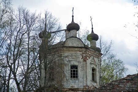 ruined: Old ruined Church in Russia