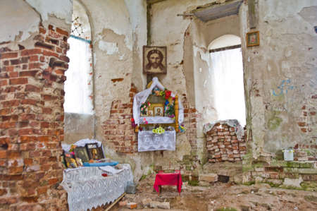 destructed: Old ruined Church in Russia