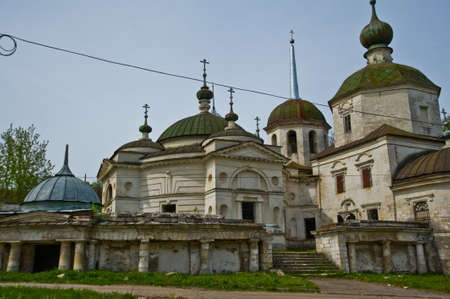 destructed: Religious buildings, Orthodox churches in Ostashkov Stock Photo