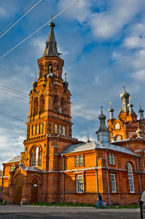 destructed: Religious buildings, Orthodox churches in Ostashkov Stock Photo